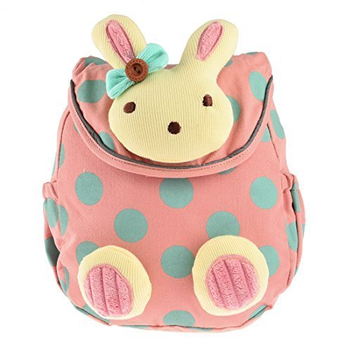 Kindergarten -Rucksack, YIFAN Baby-Kindergarten Kindergarten -Baumwolltuch -Schule-Beutel-Karikatur-Tier Kaninchen Muster Rucksack [Rosa]