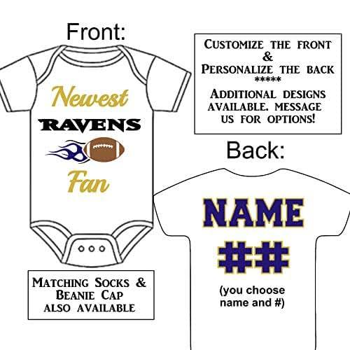 dd0ca2df Amazon.com: Personalized Custom Made Newest Ravens Fan Football ...