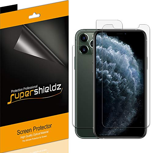 Supershieldz for Apple iPhone 11 Pro (5.8 inch) (Front and Back) Screen Protector, (3 Front and 3 Back) High Definition Clear Screen Shield (PET)