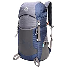 Mozone Large 40l Lightweight Water Resistant Travel Backpack/foldable & Packable Hiking Daypack Navy Blue