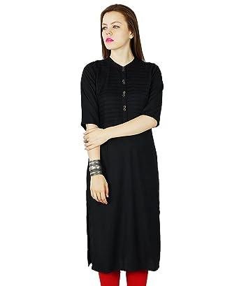 79eb0fca732329 Amazon.com: Bimba Women Rayon Custom Kurta Kurti Short Sleeve Summer Tunic  Long Top Blouse Indian Clothing: Clothing