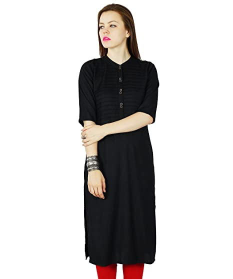 16ae0e13a2f6b8 Amazon.com  Bimba Women Rayon Custom Kurta Kurti Short Sleeve Summer Tunic  Long Top Blouse Indian Clothing  Clothing