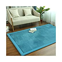 """Baby Play Mat Thicken Kids Rugs Coral Fleece Kids Carpet Baby Crawling Mats Pad Durable Tatami Floor Mat Toy Games Area Rugs (31""""x78""""Inch, Blue)"""