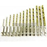 Blackspur BB-DB143 - Set di punte esagonali per trapano con rivestimento in titanio