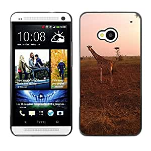 Hot Style Cell Phone PC Hard Case Cover // M00110976 Giraffe Safari Uganda Savanna Wild // HTC One M7