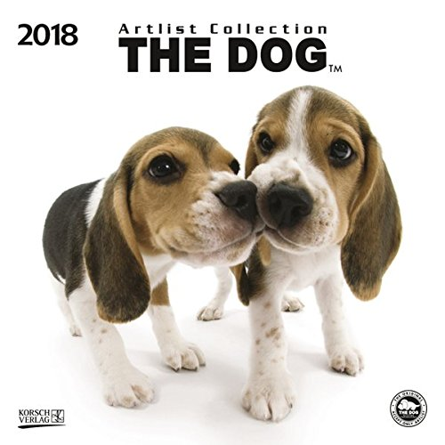 The Dog 2018: Broschürenkalender mit Ferienterminen. Süße Nahaufnahmen von Hunden mit edlem weißen Hintergrund. 30 x 30 cm - Wandkalender