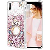 iPhone X Case, Caka iPhone Xs Floral Glitter Case Flower Pattern Series Girls Luxury Fashion Bling Flowing Liquid Floating Sparkle Glitter Cute Soft TPU Case for iPhone X XS (Owl)