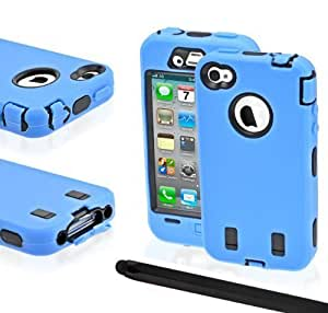 24/7 iPhone 4/4s Hybrid Hard Core Protective Cellphone Case with Aluminum Stylus by icecream design