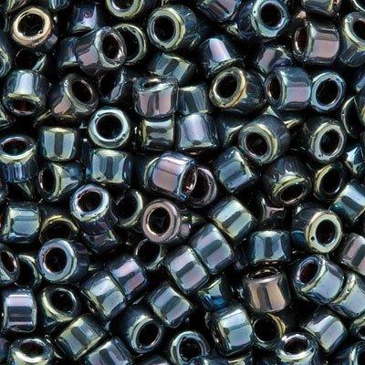 Iris Miyuki Seed Beads - Miyuki Delica Seed Beads 11/0 DB006 Gun Metal Iris 8 Grams