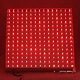 LEDwholesalers 2501RD Red 225 LED 13.8 Watt Square Grow Light Panel 110 Volt