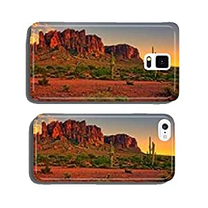 Desert sunset with mountain near Phoenix, Arizona, USA cell phone cover case Samsung S5