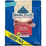 Blue Dental Bones Adult Regular Dental Chew Dog Treat 36-Oz Super Value Pack