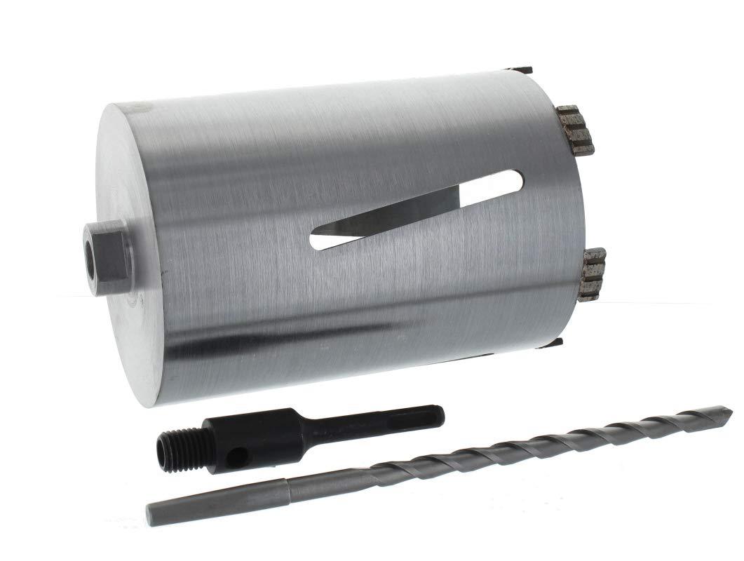 Diamant Bohrkrone SDS-plus Aufnahme und Zentrierbohrer Nutzlänge 180 mm Ø 132 mm Betonbohrkrone Kernbohrer BTEC