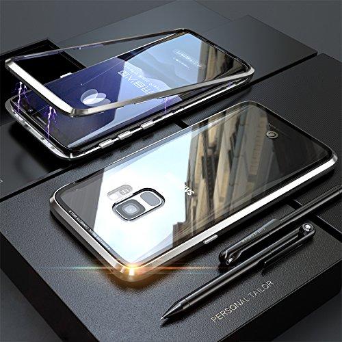 Galaxy S7 Funda, Magnética + Transparente Vidrio,Anti ...