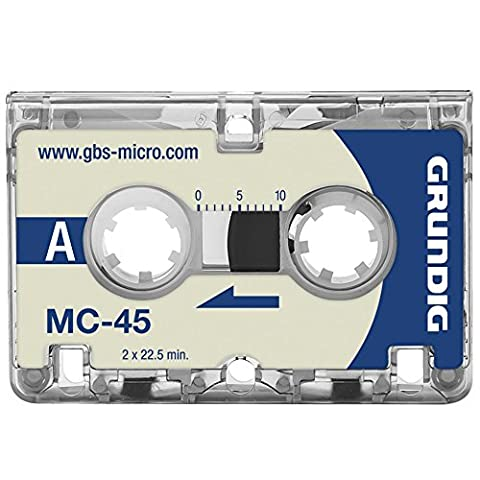 Grundig MC-45 Microcassette Tapes Pack of 3 (Microcassette Storage)