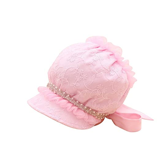 736aaa9c22524 Baby Girl Hat Pure Cotton Breathable Sun Cap Spring Summer (6-18M