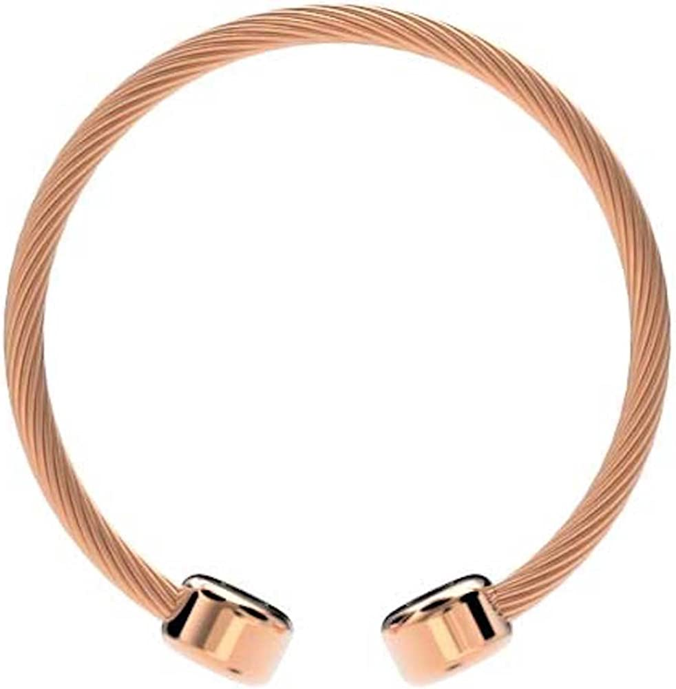 ProExl Magnetic Bracelet Stainless Cable Rose Gold Box 7.5