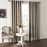 IYUEGO Modern Minimalist Stripe Pattern Jacquard Blackout Grommet Top Curtain With Multi Size Custom 72