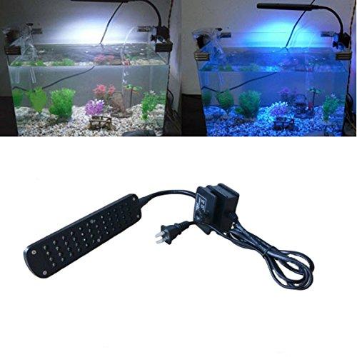 Aquarium light Fish Tank Lamp with 48-LED White and Blue Light -- Black