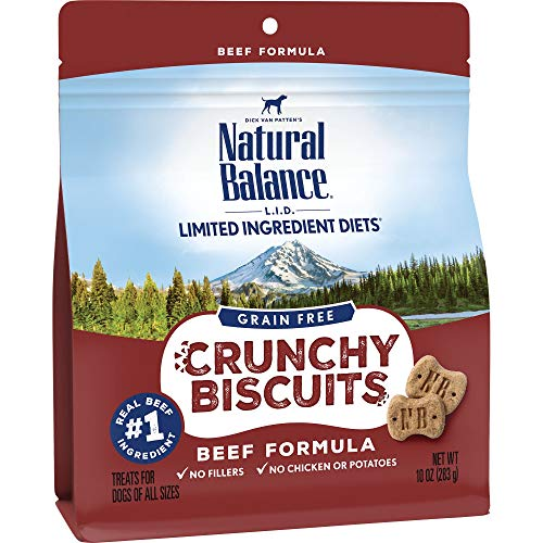 Natural Balance 2363392862 L.I.D. Limited Ingredient Diets Crunchy Dog Treats, Formula, 10 oz. - Natural Balance Beef Treats