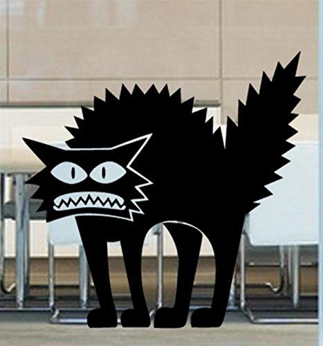 IXIMO Happy Holloween Wall Stickers Horrible Cat Holloween Mura Decor Room Decal For (Create A Banshee Costume For Halloween)