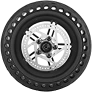 Scooter Rear Tire 8.5 Inch Black Honeycomb Explosion-Proof Outer Tire Wheel Hub Disc for Xiaomi M365 Cycling S