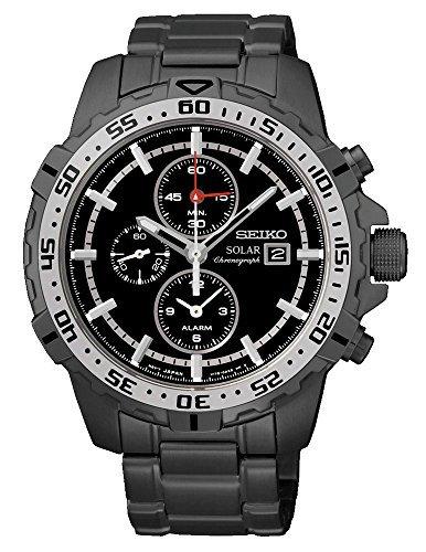 (SEIKO SSC301P1 Men's Solar,Alarm Chronograph,Stainless Steel Case & Bracelet,Rotating Bezel,100m WR,SSC301)