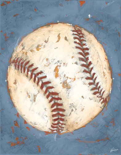 Green Frog Art Game Day Series Canvas Gallery Wrapped Art, Baseball