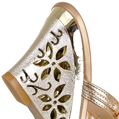 Donna Caviglia Sulla Aperte Gold Aiyoumei 8FqSwzt