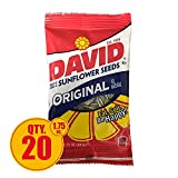 DAVID Seeds Original Sunflower Seeds, 1.75-ounce Bags(Pack of 20)