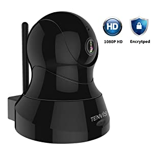 TENVIS Indoor Security Camera - 1080P HD Wireless IP Camera w/PTZ, Night Vision, 2-Way Audio, WiFi Home Dome Baby Pet Dog Camera with Phone App