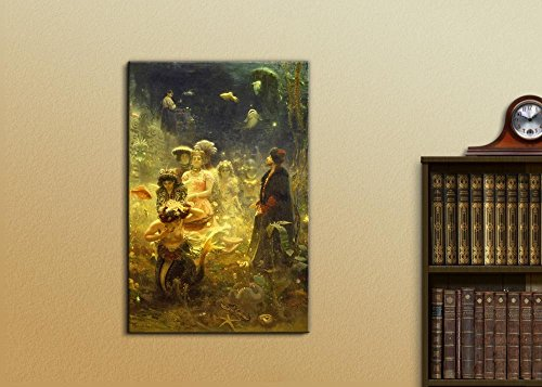 Sadko in The Underwater Kingdom by Ilya Repin Print Famous Painting Reproduction