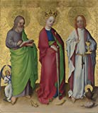 Best Greenery Indoor Slippers - Oil Painting 'Stephan Lochner Three Saints', 20 x Review