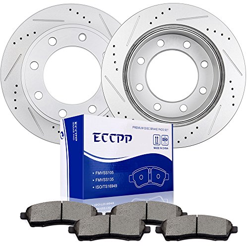 ECCPP Rear 325.9mm Discs Brake Rotors and Ceramic Brake Pads for 2000-2005 Ford Excursion,1999-2004 Ford F-250 Super Duty,1999-2004 Ford F-350 Super Duty (F-250 Ford Pickup 1999)