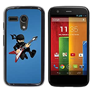 Carcasa Funda Prima Delgada SLIM Casa Case Bandera Cover Shell para Motorola Moto G 1 1ST Gen I X1032 / Business Style Ninja Rock star