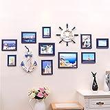 WillST Photo Frame Wooden Set European Stype Creative Photo Wall 10 Photos , d