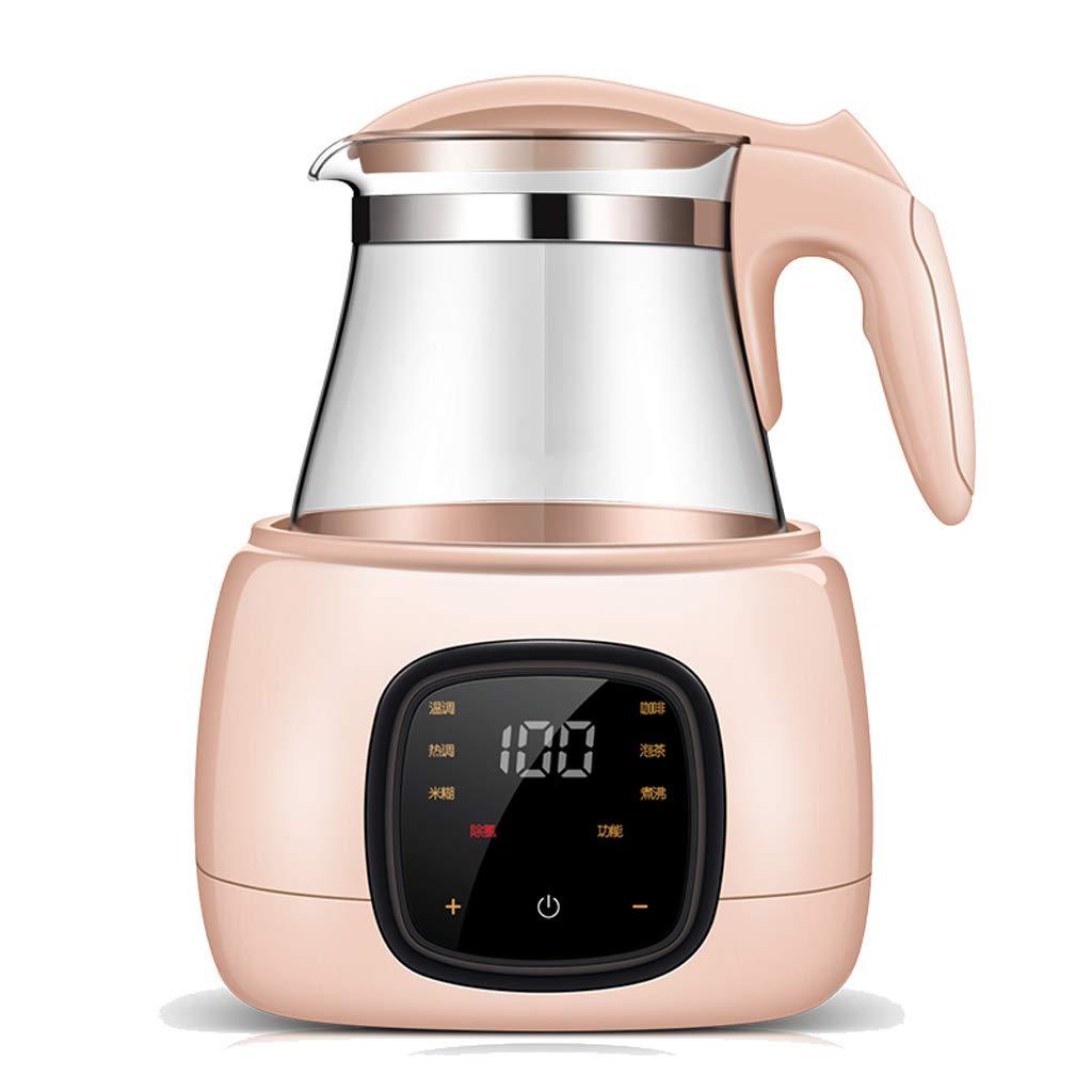 DLT Bable Bottle Warmer, 1L Electric Kettle Formula Warmer Glass Coffee Pot, Baby Breast Milk Warmer, 24H Baby Food Intelligent Thermostatic, Pink