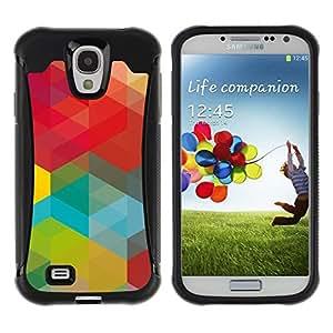 Pulsar iFace Series Tpu silicona Carcasa Funda Case para Samsung Galaxy S4 IV I9500 , Vert Rouge Jaune Teal Vibrant