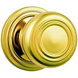 Brinks Push Pull Rotate Door Locks Webley Passage Knob, Polished Brass, 23044-105