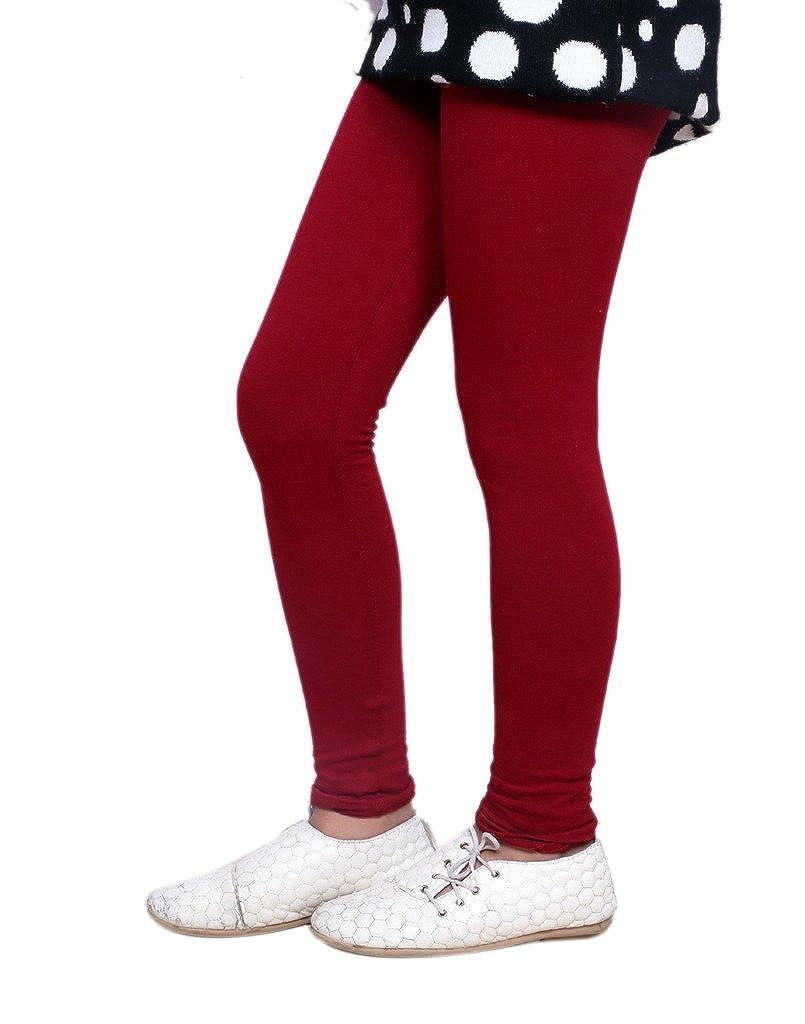 IndiStar Girls Super Soft Cotton Full Ankle Length Leggings Pack of 2