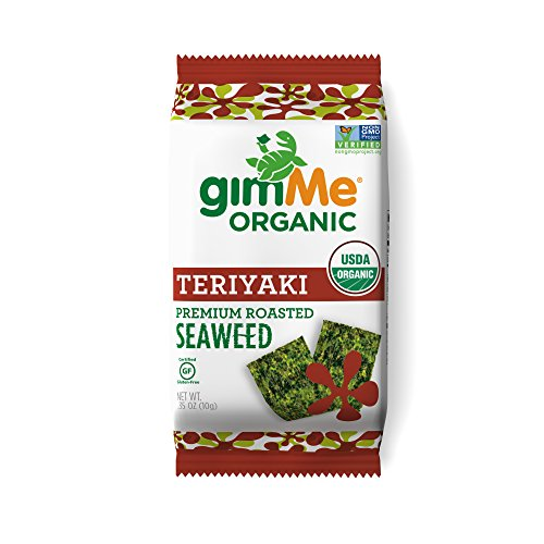 gimMe Snacks Organic Roasted Seaweed Snacks, Teriyaki, 0.35 Ounce (Pack of 12)