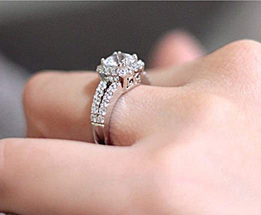 Details about  /Unique Design Green White Diamond Engagement Wedding 925 Silver Dome Ladies Ring