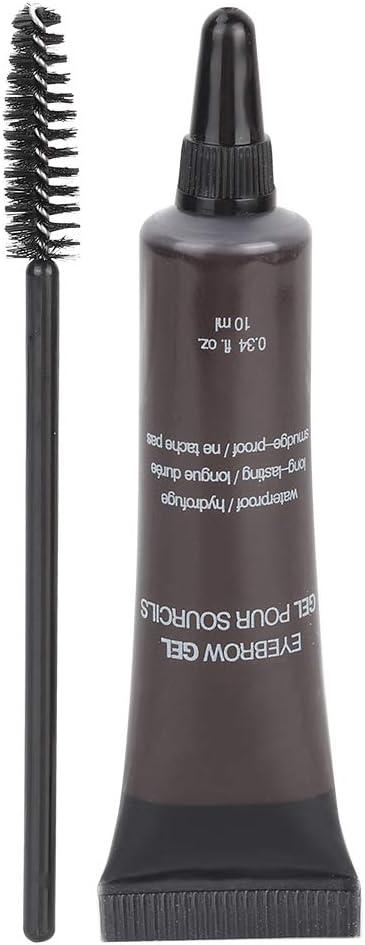 Crema para elineador de cejas con pincel, Gel profesional para cejas Ceja impermeable Ceja Gel de cejas Tinte Cejas Pincel Herramientas cosméticas(5)