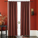 Lullabi Premium Collection, Thermal Tweed, Grasscloth Texture, Room Darkening Window Curtain Drapery, Back Tab, 84-inch Length by 50-inch Width (Burgundy,2 Panels) Review