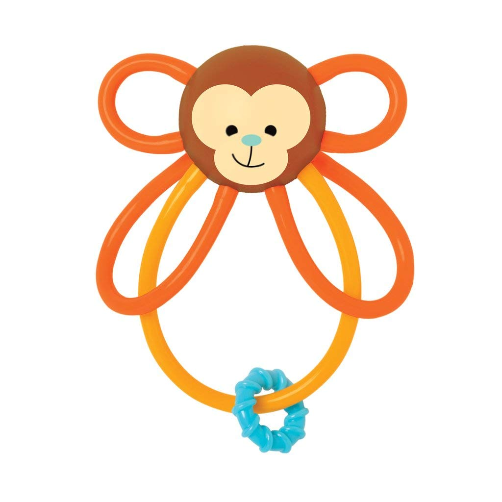 Manhattan Toy Winkel Monkey Rattle /& Sensory Teether 215850