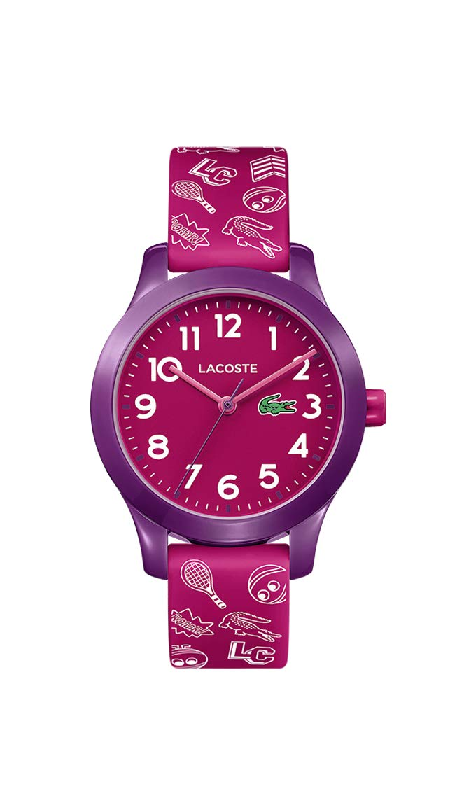 Lacoste Kids' TR90 Quartz Watch with Rubber Strap, Pink, 14 (Model: 2030012) by Lacoste