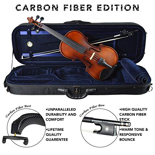 Antonio Giuliani Etude Clearance Violin Outfit 4/4 Full-Size Carbon Fiber - Price Violins Mid