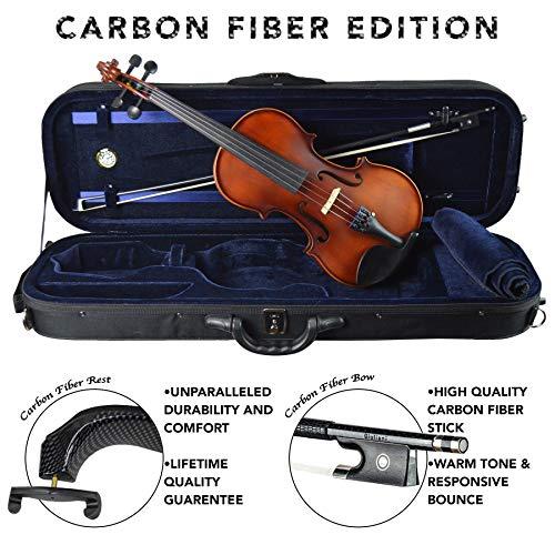(Antonio Giuliani Etude Clearance Violin Outfit 4/4 Full-Size Carbon Fiber Edition)