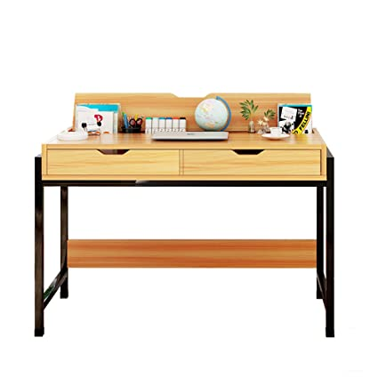 Amazoncom Zhirong Desktop Household Computer Desk With 2 Drawers