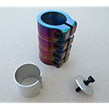 SCS Scooter Clamp 4 Bolt Rainbow Metallic (oil slick)